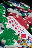 τα τσιπ ξεπλένουν το πόκερ Στοκ Φωτογραφίες