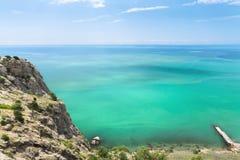 Τα τυρκουάζ νερά της Κριμαίας Στοκ φωτογραφία με δικαίωμα ελεύθερης χρήσης