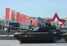 Τα τ-14 Armata είναι μια ρωσική προηγμένη δεξαμενή μάχης επόμενης γενιάς κύρια βασισμένη στην καθολική πλατφόρμα αγώνα Armata Στοκ εικόνα με δικαίωμα ελεύθερης χρήσης