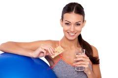 Τα υγιή τρόφιμα μετά από-workout-μετέπειτα είναι ο τρόπος στην επιτυχία! Στοκ Φωτογραφίες