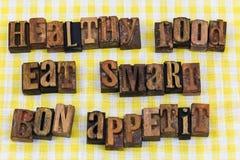 Τα υγιή τρόφιμα τρώνε το έξυπνο bon appetit Στοκ φωτογραφίες με δικαίωμα ελεύθερης χρήσης