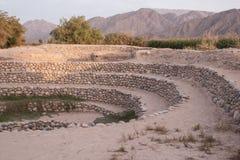 Τα υδραγωγεία Puquios στο Περού Στοκ Εικόνες