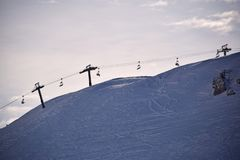 Τα υψηλά βουνά του Abruzzo που γεμίζουν με το χιόνι 005 Στοκ Φωτογραφία