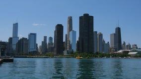 Τα υψηλά κτήρια ανόδου του Σικάγου κεντρικός απόθεμα βίντεο