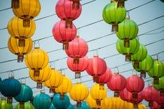 Τα φανάρια παραδοσιακού κινέζικου στοκ φωτογραφίες