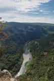 Τα φαράγγια de Ardeche αποτελούνται από μια σειρά φαραγγιών στον ποταμό Ardeche, Γαλλία Στοκ Εικόνα