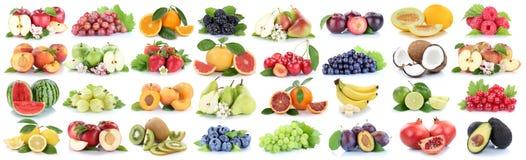 Τα φρέσκα πορτοκαλιά μούρα λεμονιών μήλων συλλογής φρούτων φρούτων απομονώνουν Στοκ εικόνα με δικαίωμα ελεύθερης χρήσης