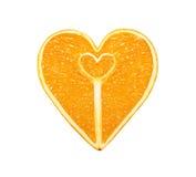 Τα φρούτα ένα πορτοκάλι υπό μορφή καρδιάς στοκ εικόνα με δικαίωμα ελεύθερης χρήσης