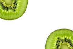 Τα φρούτα ακτινίδιων, κλείνουν το επάνω τεμαχισμένο αφηρημένο υπόβαθρο ακτινίδιων, μακρο άποψη Στοκ Φωτογραφία
