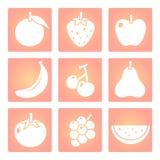 Τα φρούτα διαμορφώνουν το διανυσματικό εικονίδιο Στοκ Φωτογραφία