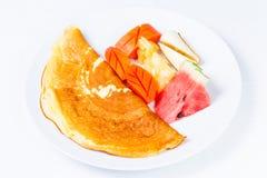 Τα φρούτα μιγμάτων Crepe Στοκ Φωτογραφία