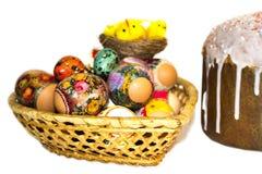 Τα φωτεινά αυγά Πάσχας σε ένα anthodium Στοκ φωτογραφίες με δικαίωμα ελεύθερης χρήσης