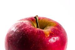 Τα φωτεινά κόκκινα Juicy της Apple τρόφιμα διατροφής φρούτων φρέσκα απομόνωσαν την άσπρη πλάτη Στοκ Φωτογραφία