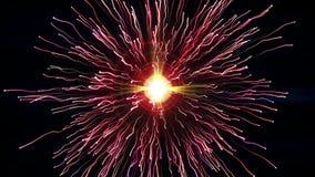 Τα φωτεινά ρόδινα μόρια με τα ρεύματα συγκρούονται και δημιουργούν την έκρηξη με τα ίχνη διανυσματική απεικόνιση
