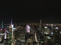 Τα φω'τα νύχτας του Μανχάταν Στοκ Εικόνες