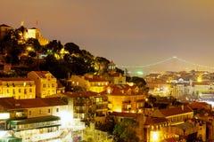 Τα φω'τα της Λισσαβώνας στοκ εικόνες με δικαίωμα ελεύθερης χρήσης