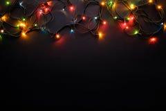 Τα φω'τα Χριστουγέννων ανάβουν Στοκ φωτογραφίες με δικαίωμα ελεύθερης χρήσης