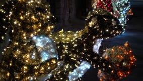 Τα φω'τα Χριστουγέννων προσφέρουν πάντα μια ζεστασιά athmosphere FDV απόθεμα βίντεο