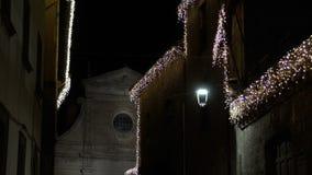 Τα φω'τα Χριστουγέννων προσφέρουν πάντα μια phantasagorical ατμόσφαιρα FDV απόθεμα βίντεο