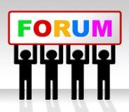 Τα φόρουμ φόρουμ αντιπροσωπεύουν τα κοινωνικούς μέσα και τον ιστοχώρο διανυσματική απεικόνιση