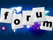 Τα φόρουμ φόρουμ σημαίνουν τα κοινωνικές μέσα και την επικοινωνία ελεύθερη απεικόνιση δικαιώματος