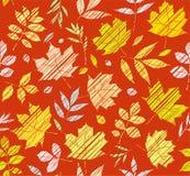 Τα φύλλα των δέντρων, άνευ ραφής υπόβαθρο, καφετής-κόκκινο, χρώμα, σκίαση, διάνυσμα Στοκ Εικόνες