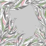 Τα φύλλα δίνουν το συρμένο άνευ ραφής σχέδιο επίσης corel σύρετε το διάνυσμα απεικόνισης Στοκ Εικόνες