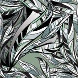 Τα φύλλα δίνουν το συρμένο άνευ ραφής σχέδιο επίσης corel σύρετε το διάνυσμα απεικόνισης Στοκ Φωτογραφίες