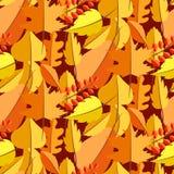 Τα φύλλα φθινοπώρου πέφτουν άνευ ραφής διανυσματικό σχέδιο απεικόνιση αποθεμάτων