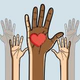 Τα χέρια γιορτάζουν μέχρι την ελευθερία juneteenth ελεύθερη απεικόνιση δικαιώματος