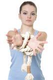 τα χέρια ενέπλεξαν τις νεολαίες γυναικών στοκ φωτογραφία