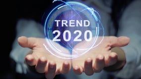 Τα χέρια παρουσιάζουν γύρω από την τάση το 2020 ολογραμμάτων απόθεμα βίντεο