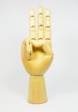 τα χέρια παρουσιάζουν τον αριθμό τρία στοκ εικόνα