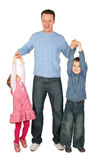 τα χέρια πατέρων παιδιών κρα&ta στοκ φωτογραφία