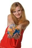 τα χέρια σφαιρών κρατούν τι&sigma Στοκ εικόνα με δικαίωμα ελεύθερης χρήσης