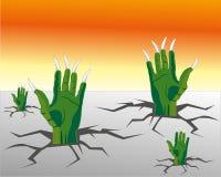 Τα χέρια του αγγείου αναρριχούνται από το έδαφος διανυσματική απεικόνιση