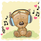 τα χαριτωμένα κινούμενα σχέδια teddy αντέχουν ελεύθερη απεικόνιση δικαιώματος