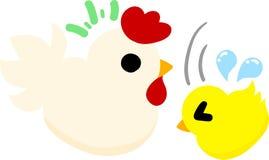 Τα χαριτωμένοι εσωτερικοί πτηνά και ο νεοσσός ελεύθερη απεικόνιση δικαιώματος