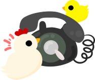 Τα χαριτωμένοι εσωτερικοί πτηνά και ο νεοσσός απεικόνιση αποθεμάτων