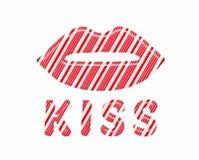 Τα χείλια καλάμων καραμελών εσείς θέλουν να φιλήσουν Στοκ Εικόνες