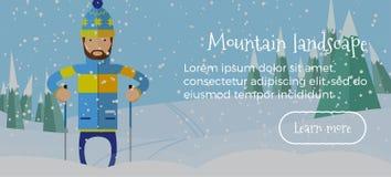 Τα χειμερινά εμβλήματα Χριστουγέννων με παρουσιάζουν Στοκ Εικόνες