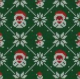 Τα χειμερινά Χριστούγεννα έπλεξαν το άνευ ραφής αφηρημένο υπόβαθρο Άγιος Βασίλης, snowflakes, χιονάνθρωπος Ελεύθερη απεικόνιση δικαιώματος