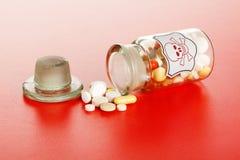 τα χημικά θανάσιμα χάπια γυ&alp Στοκ φωτογραφία με δικαίωμα ελεύθερης χρήσης