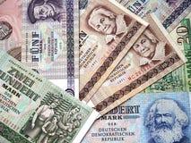 Τα χρήματα της Γερμανίας ΛΔ πριν από το 1991. Στοκ Φωτογραφίες