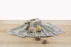 τα χρήματα ανασκόπησης περισσότερο το χαρτοφυλάκιό μου βλέπουν το λευκό Στοκ φωτογραφίες με δικαίωμα ελεύθερης χρήσης
