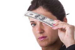 τα χρήματα βλέπουν Στοκ Εικόνες