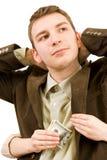 τα χρήματα κλέβουν Στοκ Φωτογραφία