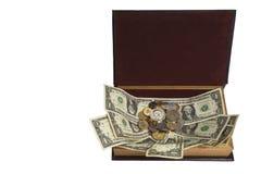 Τα χρήματα στα χρήματα προσκολλώνται και κολλούν Στοκ εικόνες με δικαίωμα ελεύθερης χρήσης