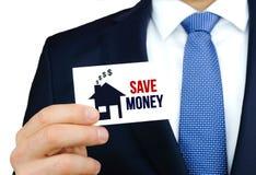 τα χρήματα σώζουν Στοκ φωτογραφίες με δικαίωμα ελεύθερης χρήσης