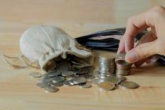 τα χρήματα σώζουν Στοκ Εικόνες